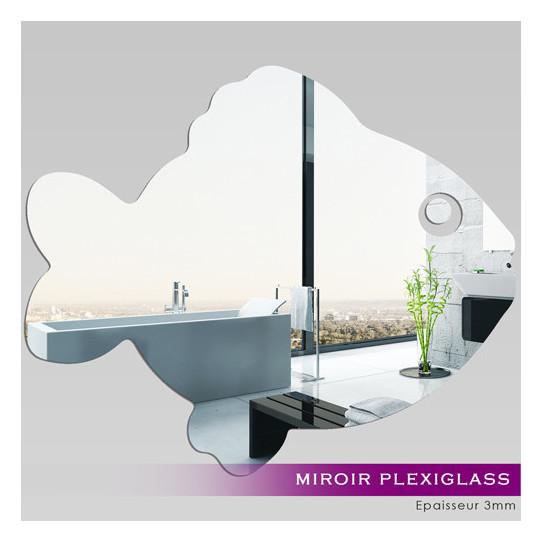 Miroir plexiglass acrylique poisson des prix 50 moins for Miroir 50x60