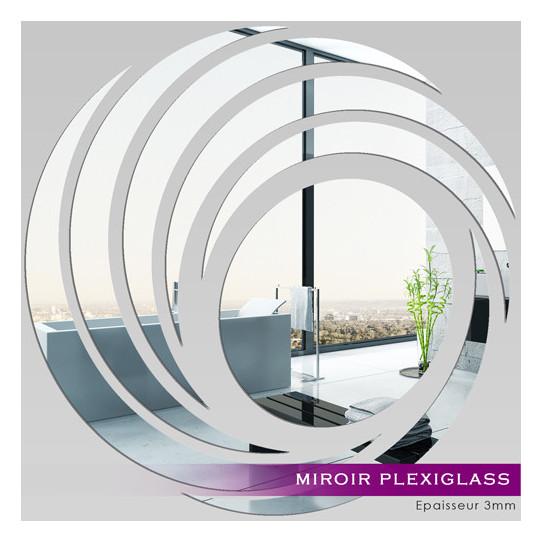 Miroir plexiglass acrylique spirales design des prix for Miroir acrylique