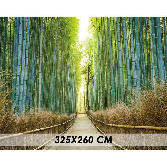 Papier peint allée de bambous