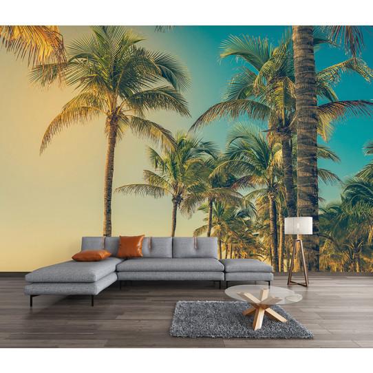 Papier peint palmiers   Des prix 50% moins cher qu'en magasin
