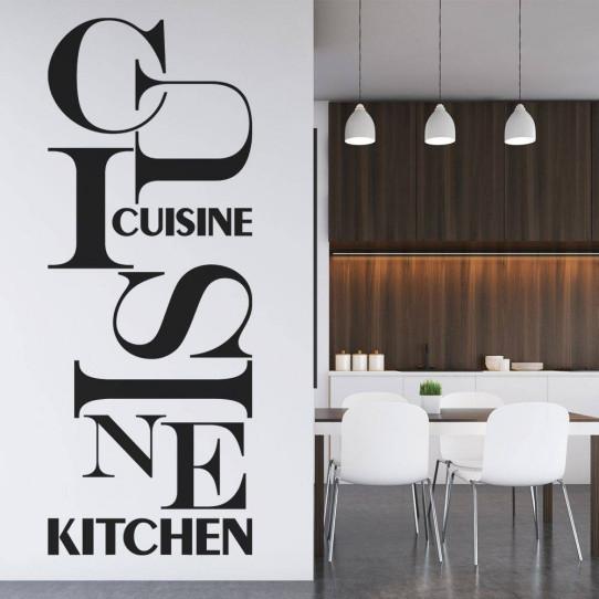 Sticker cuisine des prix 50 moins cher qu 39 en magasin for Stickers cuisine phrase