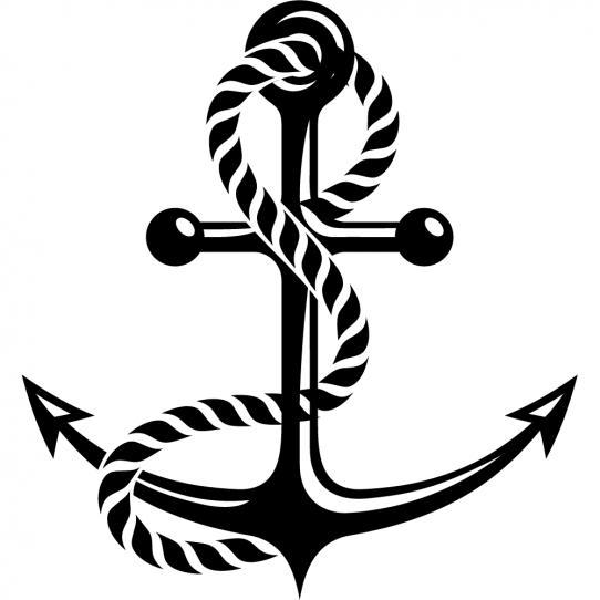 Stickers ancre marine
