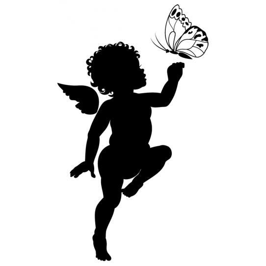 Stickers Ange Papillon