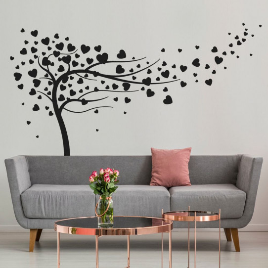 stickers arbre coeurs des prix 50 moins cher qu 39 en magasin. Black Bedroom Furniture Sets. Home Design Ideas