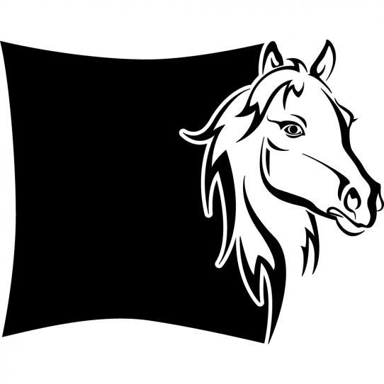 Stickers ardoise cheval
