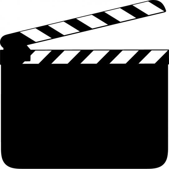 Stickers ardoise clap cinéma