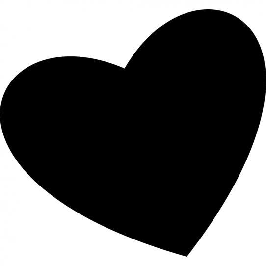 Stickers ardoise coeur