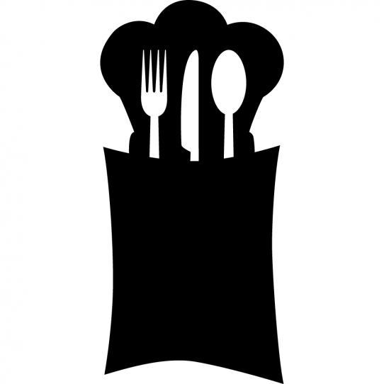 (Stickers ardoise cuisine couverts