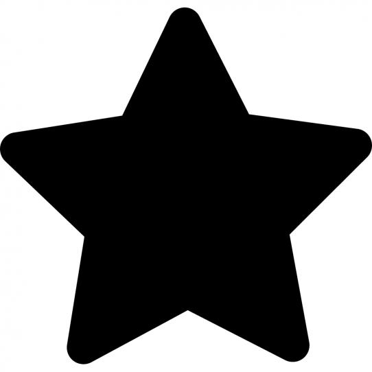 Stickers ardoise étoile