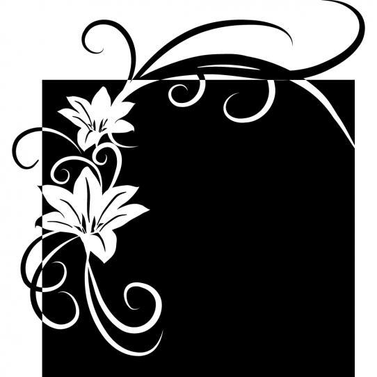 Stickers ardoise fleur