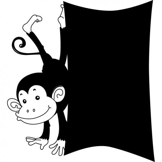 Stickers ardoise singe