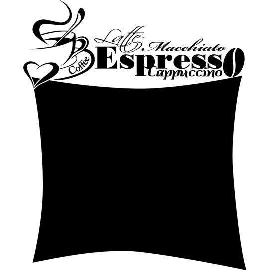 Stickers ardoise tasse à café