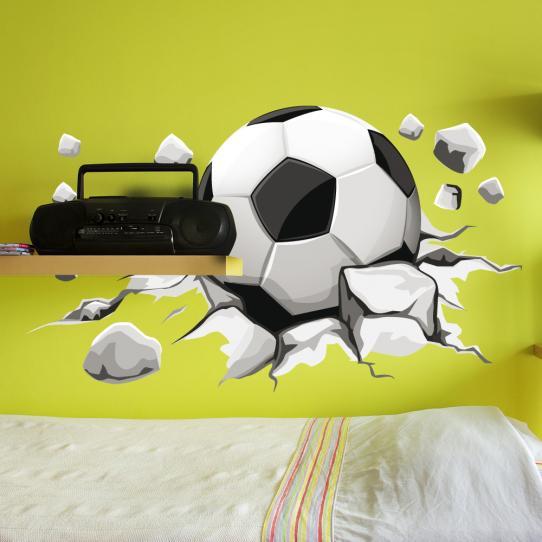 Autocollant Stickers mural ado ballon de foot