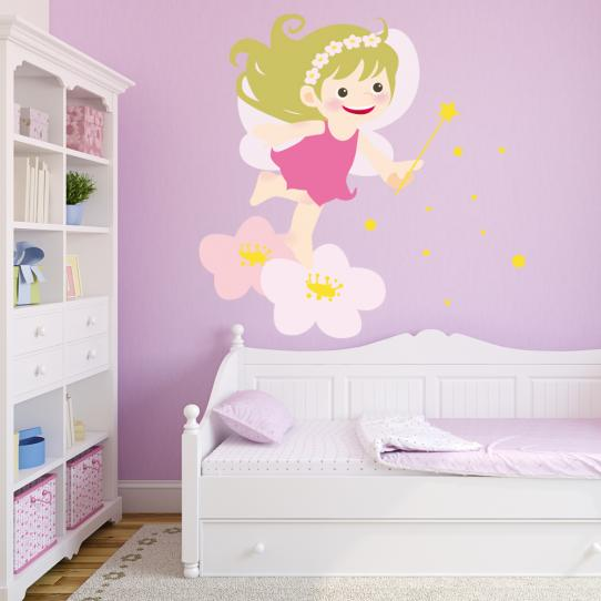 Autocollant Stickers mural enfant bebe fee
