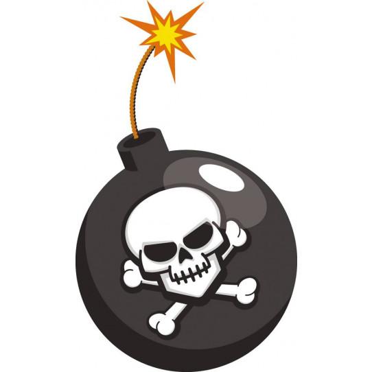 Autocollant Stickers enfant bombe pirate