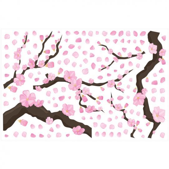 Stickers muraux branche de cerisier sakura
