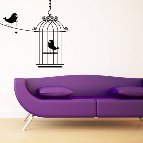 Stickers Cage Oiseaux