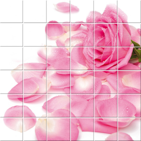 stickers carrelage fleur des prix 50 moins cher qu 39 en. Black Bedroom Furniture Sets. Home Design Ideas