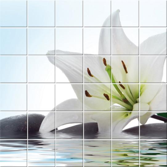 Stickers carrelage fleur - Des prix 50% moins cher qu\'en magasin