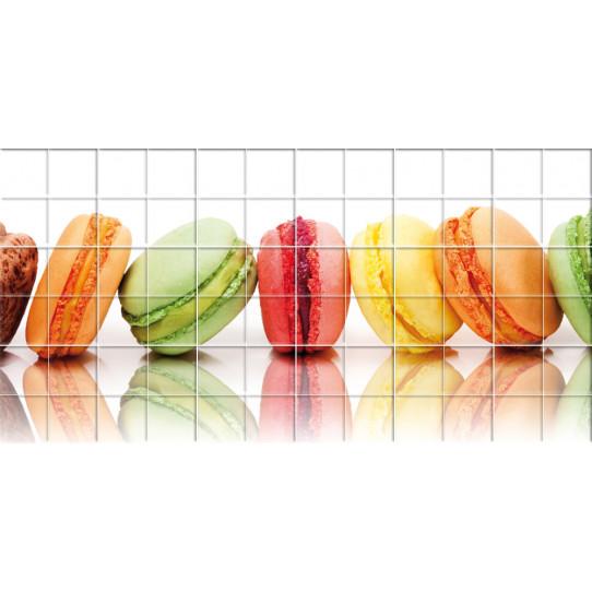 stickers carrelage macarons des prix 50 moins cher qu 39 en magasin. Black Bedroom Furniture Sets. Home Design Ideas