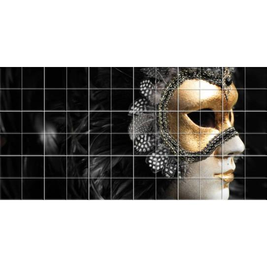 Stickers carrelage masque venise
