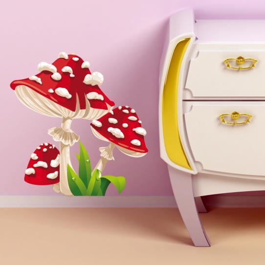 Autocollant Stickers muraux enfant champignon