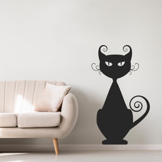 Stickers adhésif autocollant muraux mural chat