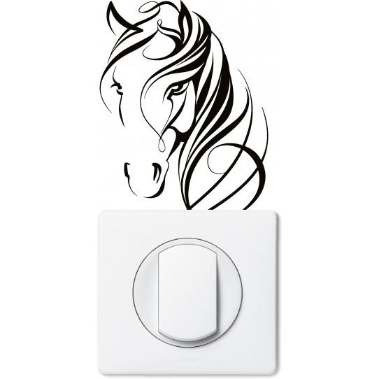 Stickers cheval pour prise et interrupteur