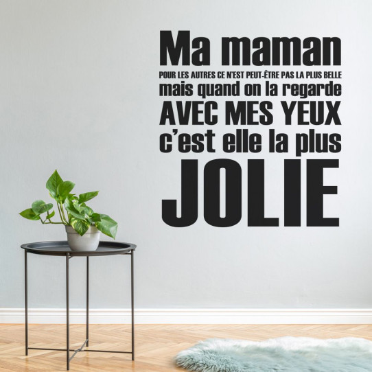 Stickers Citation Ma Maman Des Prix 50 Moins Cher Qu
