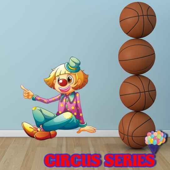 Autocollant Stickers mural enfant clown
