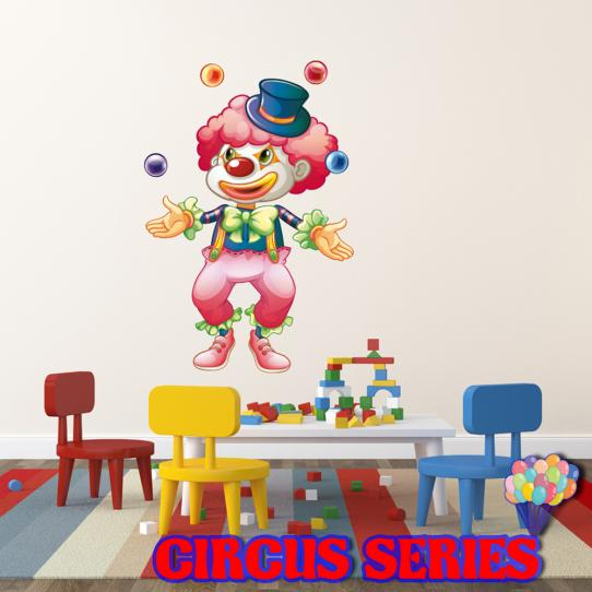 Autocollant Stickers muraux enfant clown