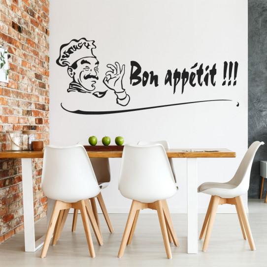 stickers cuisine bon app tit des prix 50 moins cher qu 39 en magasin. Black Bedroom Furniture Sets. Home Design Ideas