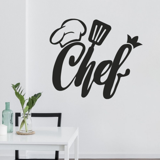 stickers cuisine chef des prix 50 moins cher qu 39 en magasin. Black Bedroom Furniture Sets. Home Design Ideas
