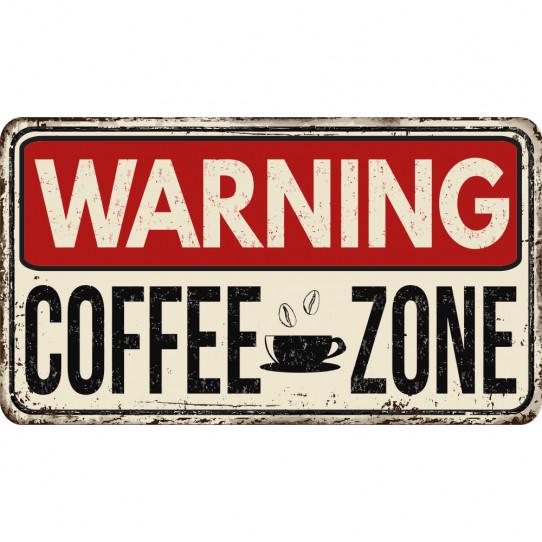 Stickers cuisine Warning Coffee Zone
