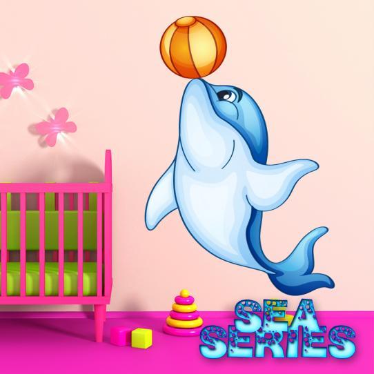 Autocollant Stickers muraux enfant dauphin