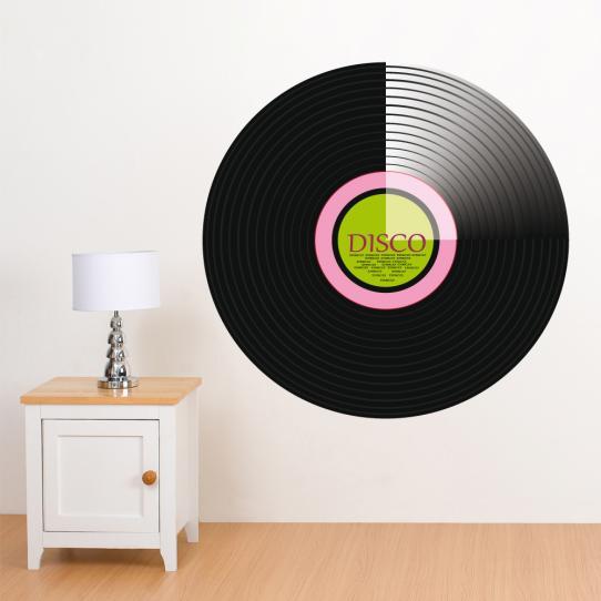 Autocollant Stickers mural ado disque disco
