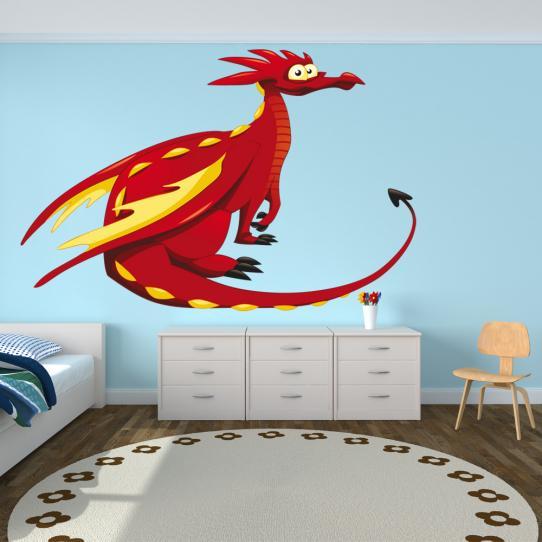 Autocollant Stickers muraux enfant dragon
