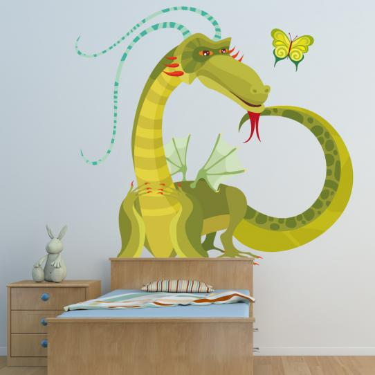 Autocollant Stickers muraux enfant dragon