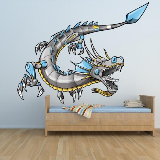 Autocollant Stickers mural enfant dragon