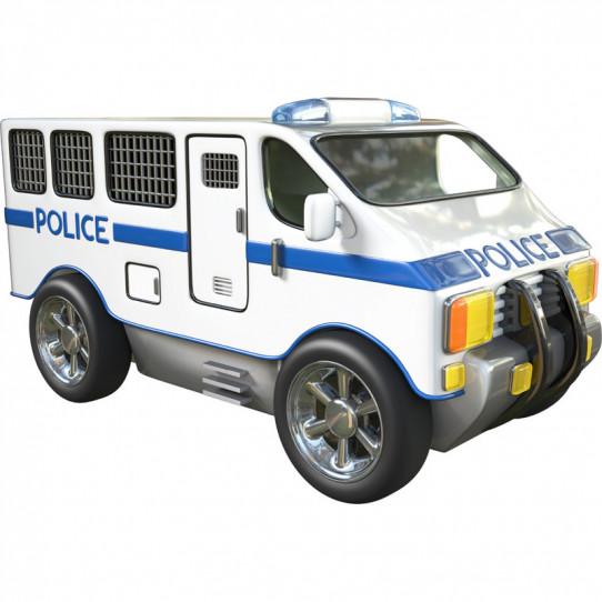 stickers effet 3d voiture de police des prix 50 moins cher qu 39 en magasin. Black Bedroom Furniture Sets. Home Design Ideas