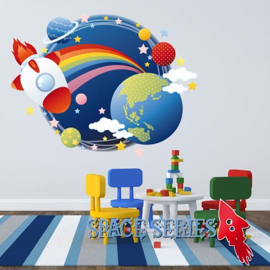 Autocollant Stickers mural enfant espace