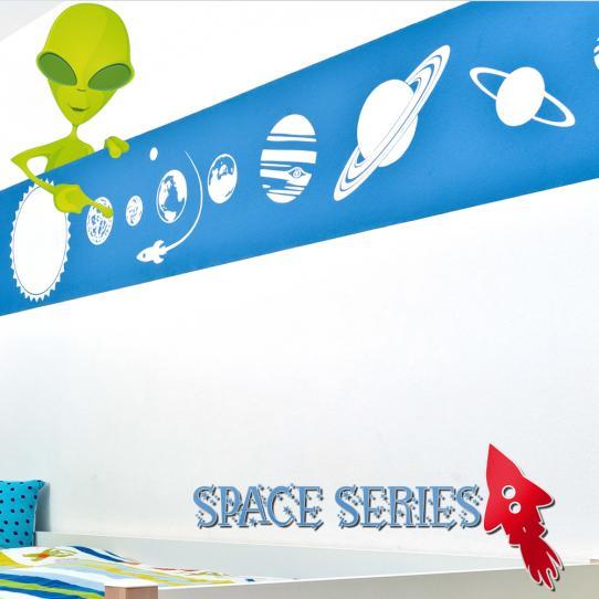 Autocollant Stickers mural enfant extraterrestre
