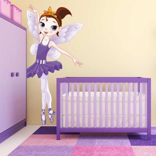 Autocollant Stickers mural enfant fée princesse