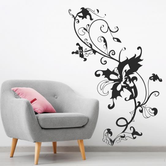 Stickers adhésif autocollant muraux mural fleur baroque