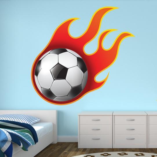Autocollant Stickers mural ado ballon en feu