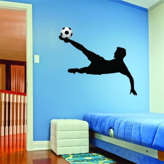 Stickers Foot retourné acrobatique