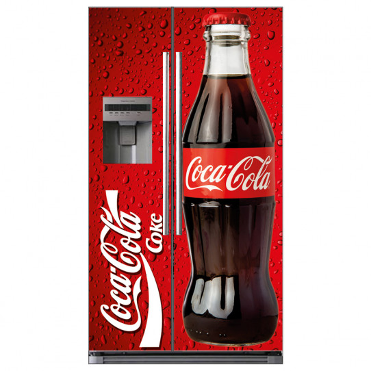stickers frigo am ricain coca cola des prix 50 moins cher qu 39 en magasin. Black Bedroom Furniture Sets. Home Design Ideas
