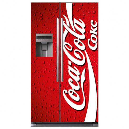 stickers frigo am ricain coca cola des prix 50 moins cher qu 39 en magasin. Black Bedroom Furniture Sets. Home Design Ideas