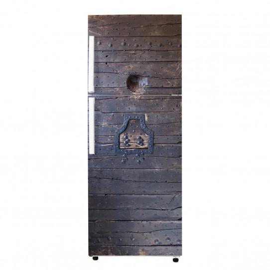 Stickers frigo porte en bois 2 des prix 50 moins cher for Porte 60x200