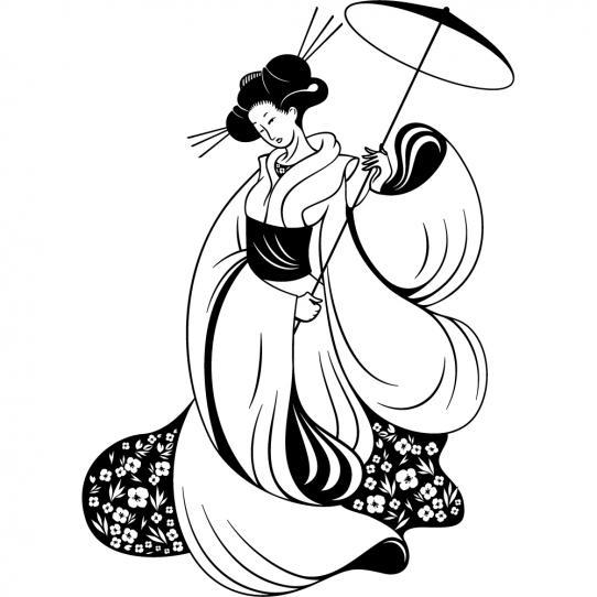 Stickers Geisha